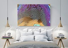 Canvas Wall Art Abstract Print Purple Painting par JuliaApostolova