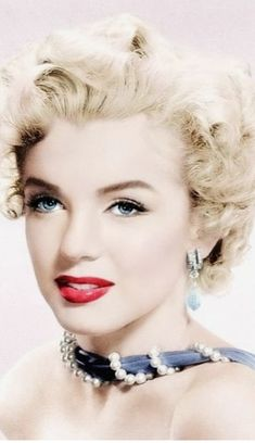 Lovely and sweet colorized photo of Marilyn.