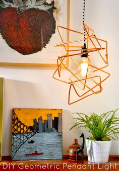DIY Geometric Light Pendant