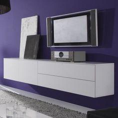 Zwevend Tv-Dressoir wit Locco - Zwevende Tv-meubelen - Tv meubel | Zen Lifestyle