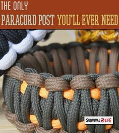 Paracord is a prepper's best friend. Also called parachute cord< it is a strong, versatile, inexpensive, lightweight and easy to carry with you wherever you go. DIY paracord proj…