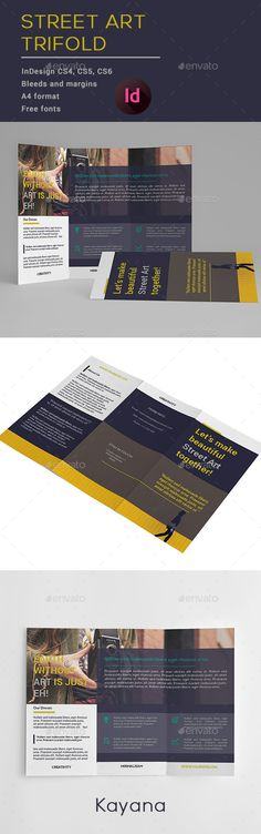 StreetArt Trifold #Brochure - Brochures Print #Templates Download here: https://graphicriver.net/item/streetart-trifold-brochure/20110077?ref=alena994