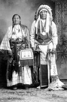Henry Roman Nose and wife - Southern Cheyenne - no date