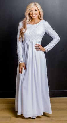 062219c7aa White Elegance. Mormon Wedding DressesProm ...