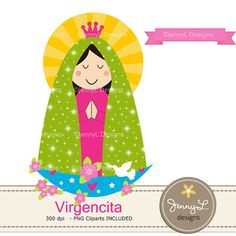 50% OFF Virgencita Digital papers Virgin Mary clipart Virgen