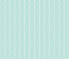 aqua chevron fabric by ivieclothco on Spoonflower - custom fabric