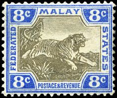 Postage stamps and postal history of Malaysia   A 1905 stamp of Malay Federated States