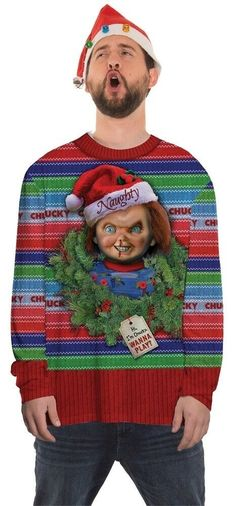f752f06e077d Chucky Ugly Xmas Men's Costume Sweater T-shirt Photorealistic Print  Christmas | eBay Chucky Shirt