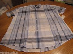 Men's Tommy Hilfiger shirt small S button up blue plaid 467 7817654 NEW NWT logo