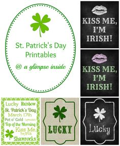 St. Patricks Day Printables