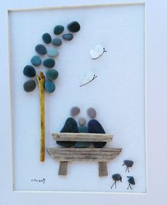 Pebble art couple dog pebble picture couple of trees anniversary do 1012018 g the buyers in any move of any product will receive a mini canvas pebble art picture for free solutioingenieria Image collections
