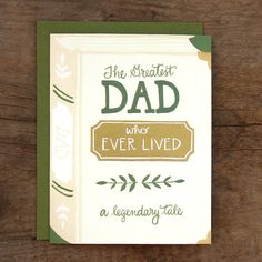 Greatest Dad Illustrated Card by 1canoe2 on Etsy, $4.50