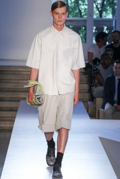 JIL SANDER 2014 S/S COLLECTION RUNWAY SHOW WITH VIDEO (MAN)