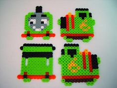 3D Percy the Small Engine perler beads