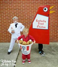 KFC Costumes Cute Kids Halloween Costumes, Homemade Halloween Costumes, Halloween Costume Contest, Costumes For Teens, Cute Costumes, Family Costumes, Baby Costumes, Halloween Diy, Costume Ideas