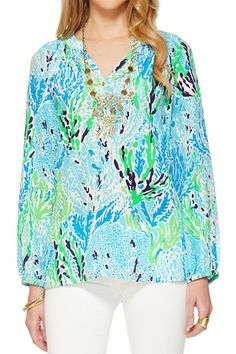 Lilly Pulitzer Elsa Top in Let's Cha Cha