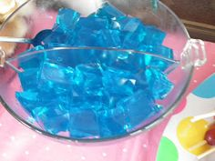 Great ideas for beach party games.  And I love this blue jello cut in cubes to look like water!
