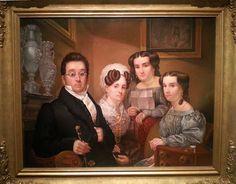 At Crystal Bridges. The Thomas family, 1830. Edward Dalton Marchant. Easily four feet wide - and the jewelry display alone makes you realize that this family was very important. My favorite surprise.
