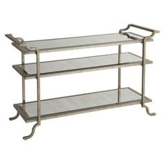Shop for Stein World Gatsby Sofa Table, and other Living Room Console Tables at Pamaro Shop Furniture in Sarasota and Bradenton, FL. Sofa End Tables, Table Desk, Console Tables, Console Table Styling, Gold Sofa, Mirror With Shelf, Mirror Shelves, Furniture Deals, Furniture Outlet