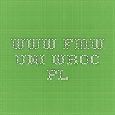 www.fmw.uni.wroc.pl