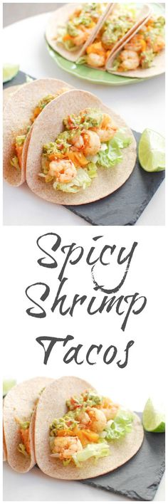 Slightly sweet and full of spice, these Spicy Shrimp Tacos are ready in 15 minutes, making them the perfect weeknight dinner! @lclivingston