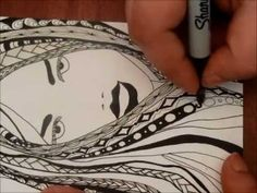 Another Girl with Zentangle Hair