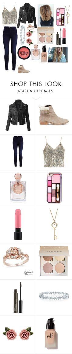 """Shimmer Beauty."" by tiaban ❤ liked on Polyvore featuring LE3NO, Sole Society, Alice + Olivia, La Perla, MAC Cosmetics, Disney, NYX, Dolce&Gabbana and e.l.f."