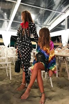 Attico - Multicolour Tulle Dress With All-Over Sequins Embroideries. Tulle Dress, Summer Nights, Dress To Impress, Night Out, Kimono Top, Cover Up, Sequins, Womens Fashion, Outfits