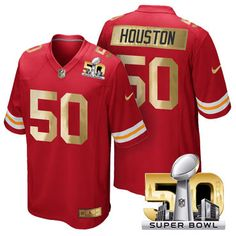 Pro Order Kansas City Chiefs Jersey 50 Justin Houston Red Super Bowl 50 Limited Jerseys