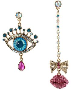 THE EYES HAVE IT MISMATCH EARRING MULTI accessories jewelry earrings fashion