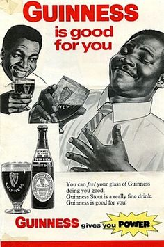 "Old guinness ad - ""Guiness is good for you"""