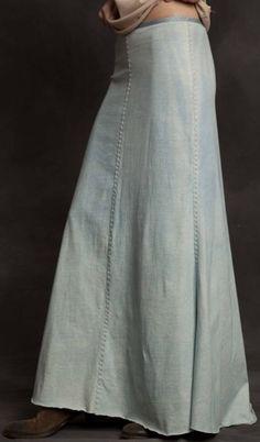 DIY Basic Long Skirt, Alabama Chanin I LOVEEEEE LOVEEEE LOVEEEEE THIS SKIRT