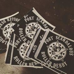 We've got stickers! by portscandalousrollerderby