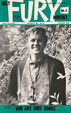 Last publication Billy Fury, Special People, Rock And Roll, How To Look Better, Singer, Face, Beautiful, Rock Roll, Special Person