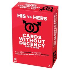 His vs. Hers Cards Without Decency Party Game  Target