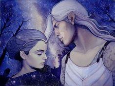 Thingol and Melian -> Nan Elmoth sketch by kimberly80 on DeviantArt
