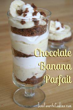 Chocolate Banana Parfait from Jen's Favorite Cookies @JenSto2t