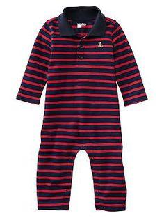 Paddington Bear™ for babyGap striped polo one-piece   Gap