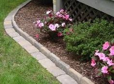 diy flower bed edging - Google Search