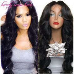 Cheap wig caps for wig making, Buy Quality wig large directly from China wigs african american women Suppliers: 2016 Sale 150 density Glueless full lace wigs Virgin Brazilian Human hair Wavy lace front wigs for black women with baby hair Black Girls Hairstyles, Pretty Hairstyles, Wig Styles, Long Hair Styles, Asymmetrical Bob Haircuts, Long Wigs, Wig Making, Wigs For Black Women, Wavy Hair