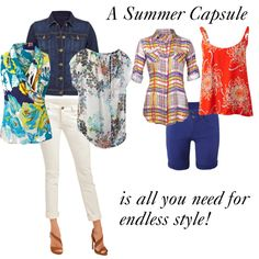 "This CAbi capsule will give you endless style this summer! ""Summer Capsule"".  Adorable!!  Message me to see this amazing collection in person.   Www.debragrauss.cabionline.com"