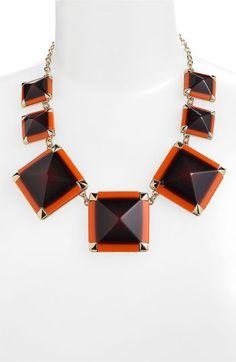 kate spade new york 'pyramid hill' collar necklace