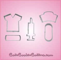 Our NurseCookie Cutter Sets include 5 different cookie cutters, each made out of sturdy aluminum. Cleaning instructions: hand wash, towel dry. Buy your nurse