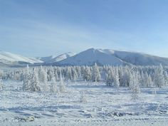 Oymyakon in the Sakha Republic, Russia. Beautiful frozen landscapes and one of the coldest inhabited places on Earth.