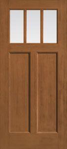 Foyer Entry Therma-Tru Door: Craftsman 3-Lite 2-Panel Flush-Glazed CCA230-SDL