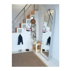 HOVET Mirror IKEA Can be hung horizontally or vertically. Provided with safety film - reduces damage if glass is broken.