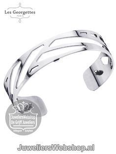 Les Georgettes Armband Ruban Zilver 14mm