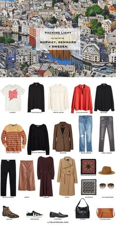 If you are wondering what to pack for a 14 day vacation to Norway, Denmark, and Sweden, you can see some ideas here. What to Pack for Norway Packing Light List Capsule Wardrobe 2018, Travel Wardrobe, Travel Outfits, Norway Vacation, Sweden Travel, Sweden Europe, Packing For Europe, Travel Packing, Travel Europe