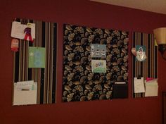 DIY pin board to display kids art and stay organized.