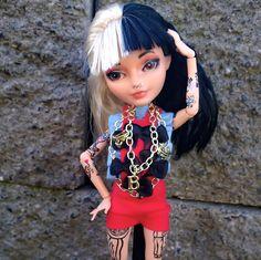 "~Melanie Martinez~from her ""Alphabet Boy"" video. Custom OOAK EverAfter High Darling Charming doll by @LadySpoonArt"